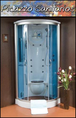 box cabina ducha escocesa con vapor- ozono- masajeador  pies
