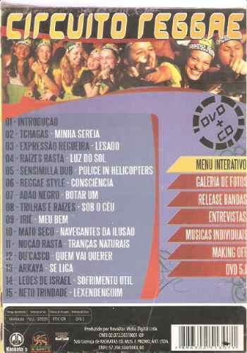 box - cd + dvd -circuito reggae  -edição especial  - novo