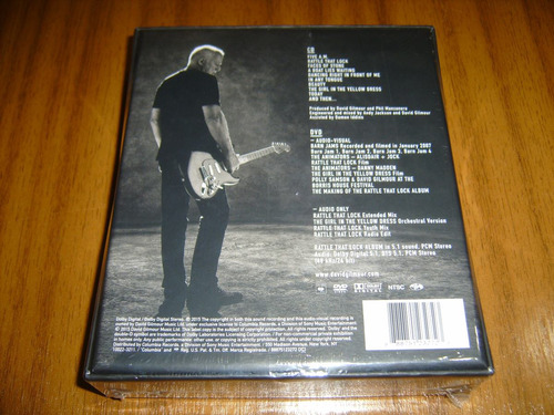 box cd+dvd david gilmour pink floyd (nuevo y sellad) usa