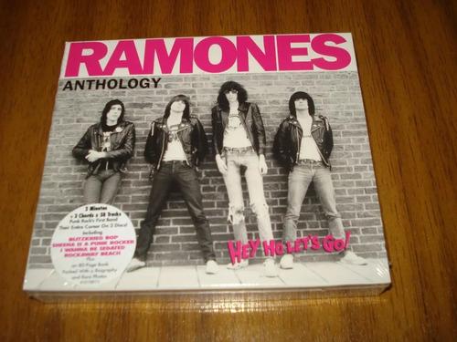 box cd ramones / anthology (nuevo) artbook 80 paginas / 2cd