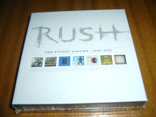 box cd rush / 7 cd de estudio 1989-2007  (nuevo sellado) usa