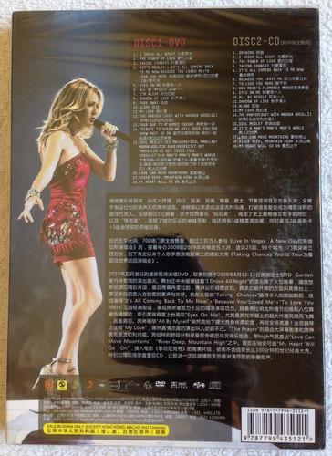 box chinês dvd + cd celine dion - taking chances world tour