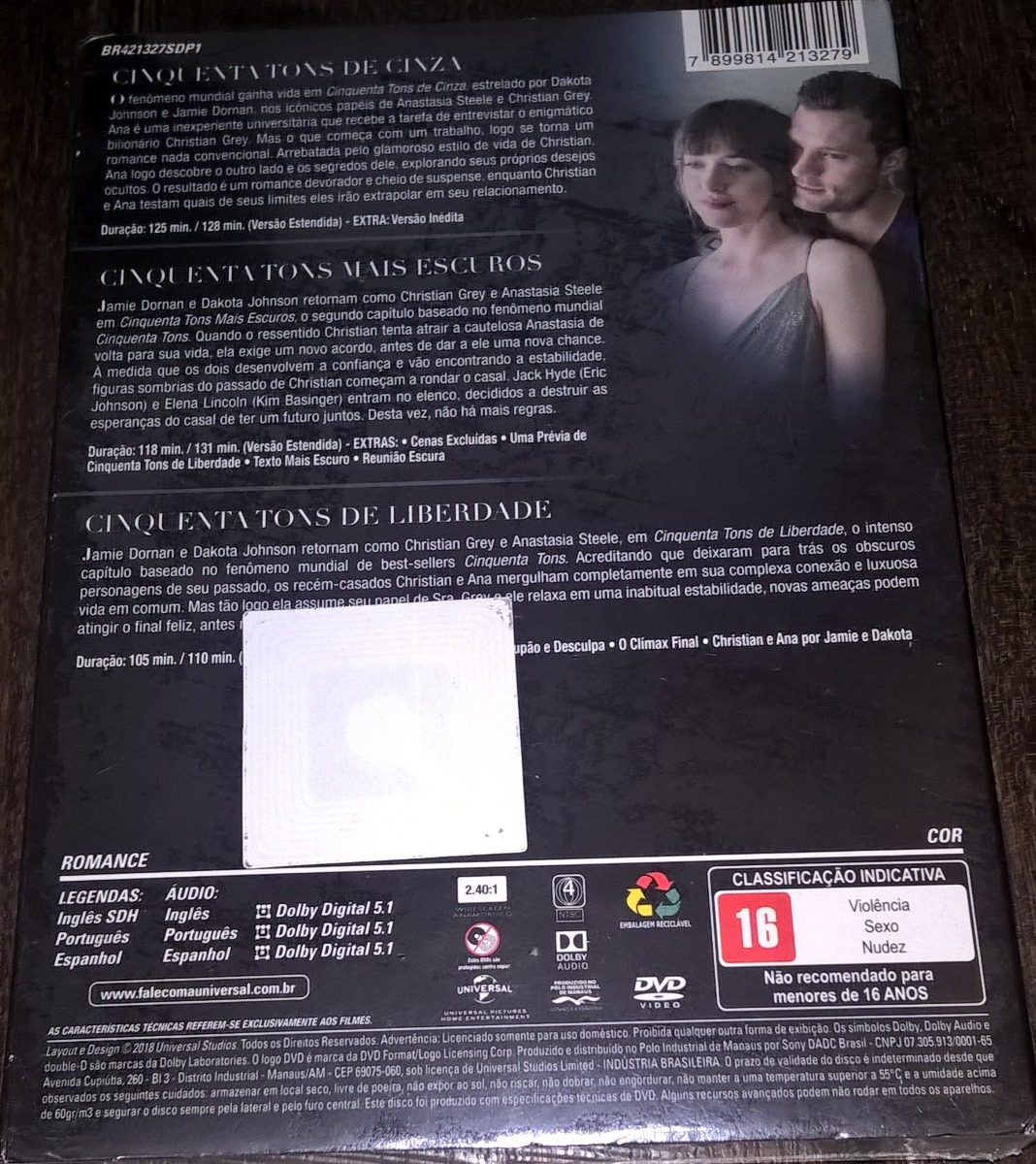 50 Tons Mais Escuros Filme Completo Dublado Completo box cinquenta tons de cinza - 3 filmes - estendida - lacrado