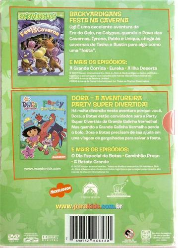 box coleção festa - backyardigans / dora a aventureira