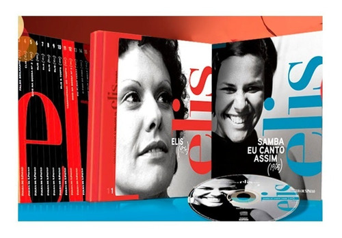 box coleção folha o melhor de elis regina 25 cds livretos