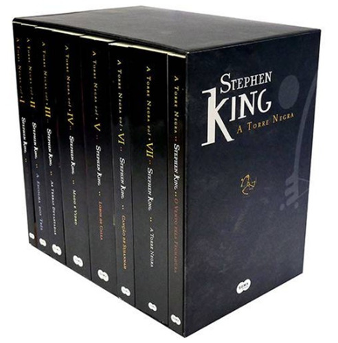 box coleção torre negra stephen king 8 volumes - lacrado