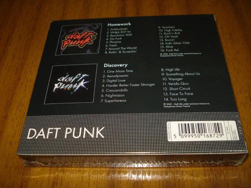 box daft punk / homework discovery (nuevo y sellado) 2 cd