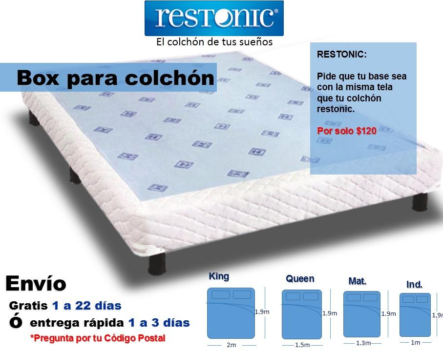 Box de cama para colch n matrimonial env o gratis restonic for Colchon para cama king size