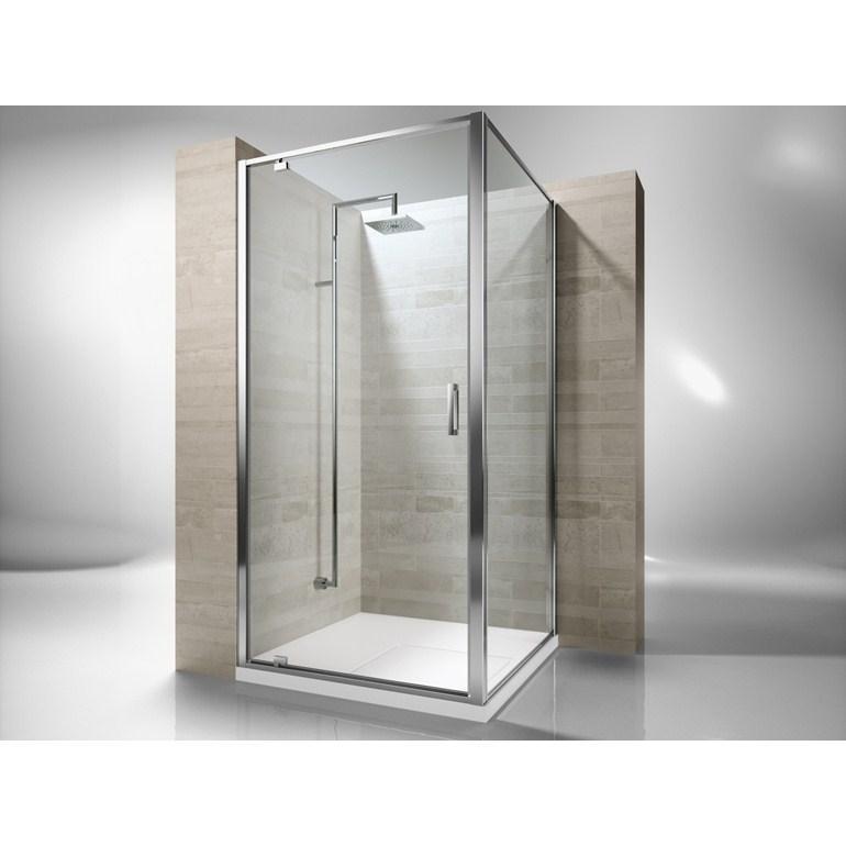 box de ducha 80x80 8mm puerta pivotante sin receptculo - Puerta Pivotante