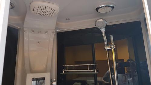 box de ducha bluetooth/c vapor s615 120x85x220 baño