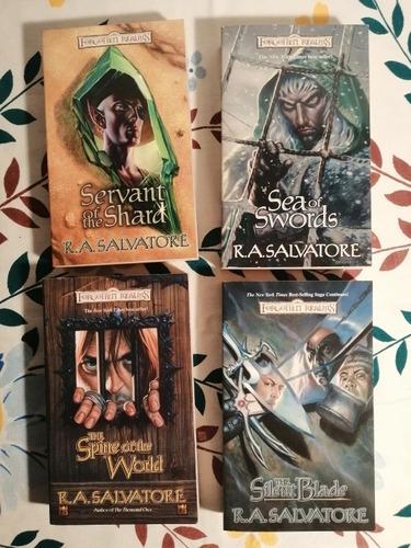 box de libros ra salvatore path of darkness en inglés drizzt