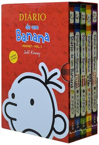box - diário de um banana - 5 volumes - pocket