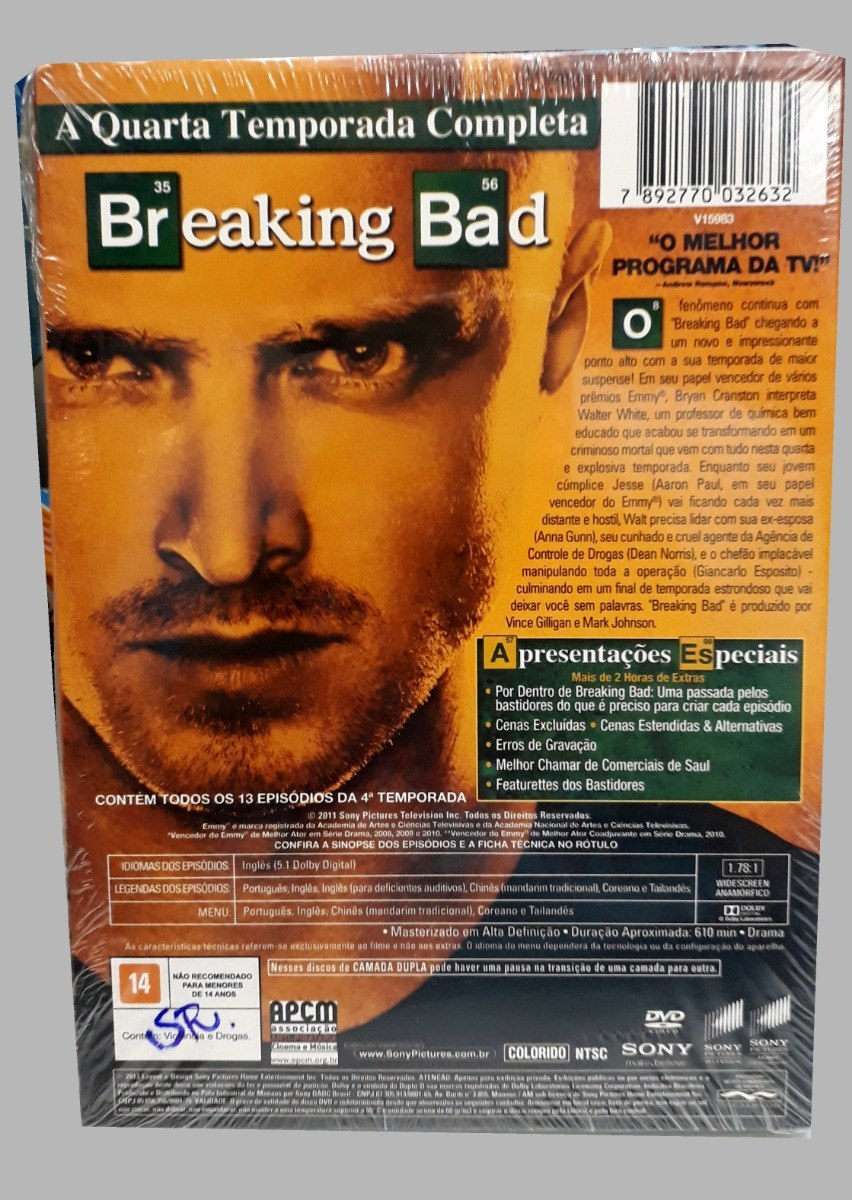 Box Dvd Breaking Bad - 4ª Temporada - 4 Discos - R$ 44,90 em Mercado ...