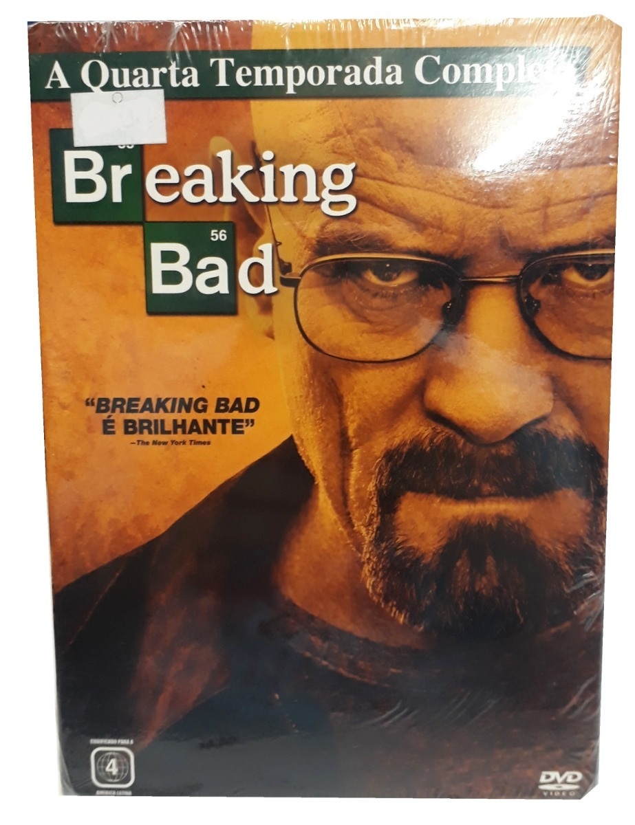 Box Dvd Breaking Bad - 4ª Temporada - 4 Discos - Original