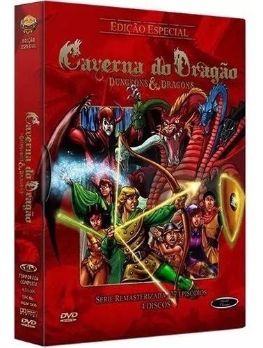 box dvd - caverna do dragão (4 discos) original lacrado