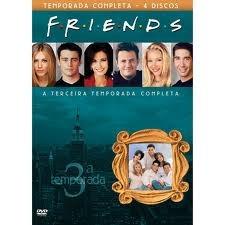 box dvd - coleção friends: 3ª temporada completa