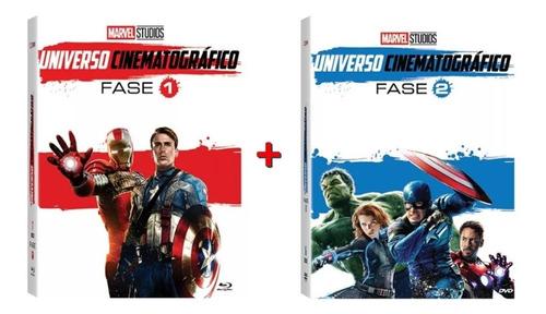 box dvd - coleção marvel universo cinematográfico fase 1 e 2