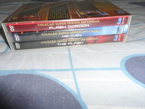 box dvd coleção super-heróis do cinema