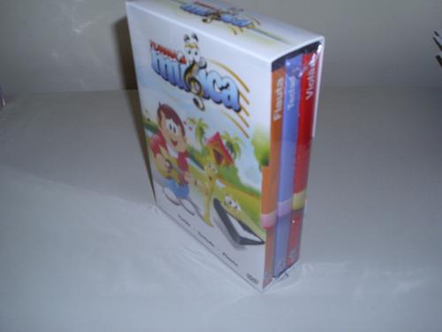 box dvd desenho a turma da musica com 3 dvds ! original !
