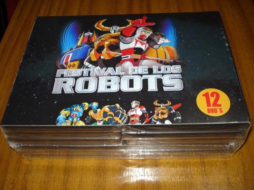 box dvd festival de los robots (nuevo y sellado) 12 dvd