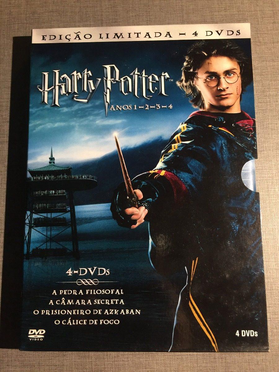 Box Dvd Harry Potter 4 Filmes