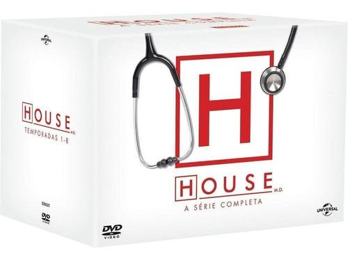 box dvd house a serie completa 46 discos original lacrado