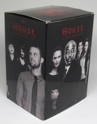 box dvd house - série completa temp 1 a 8 - semi novo