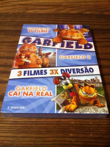 box dvd novo lacrado coleção garfield - 3 discos