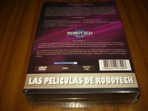 box dvd robotech / las peliculas (nuevo y sellado) 3 dvd