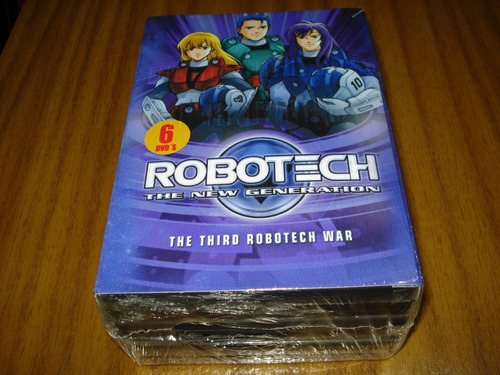 box dvd robotech / the new generation (nuevo y sellad) 6 dvd