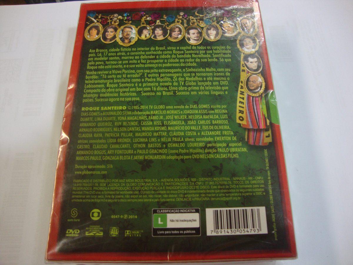 dvd da novela roque santeiro
