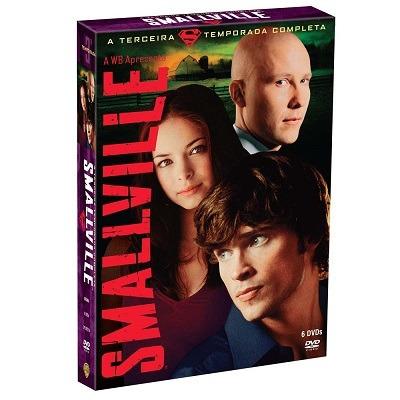 box dvd smallville 3ª temporada completa (6 dvd's)