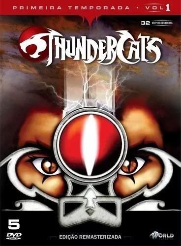 box dvd: thundercats 1ª temporada vol. 1 - original lacrado
