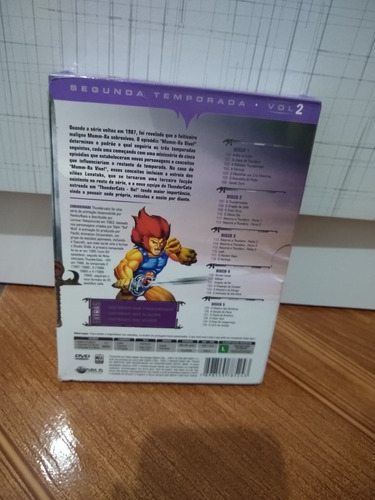 box - dvd thundercats - 2ª temporada volume 2 - lacrado