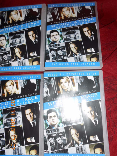 box dvd without a trace - desaparecidos 3ª temp completa