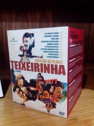 box dvds com 10 filmes teixeirinha