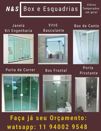 box, espelhos, vidros temperados  e esquadrias