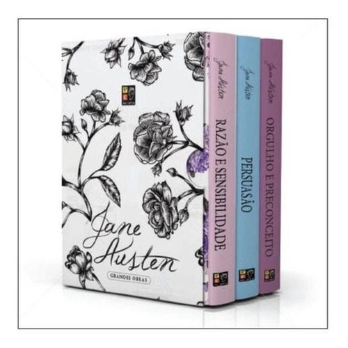 box grandes obras - jane austen 3 volumes - novo lacrado