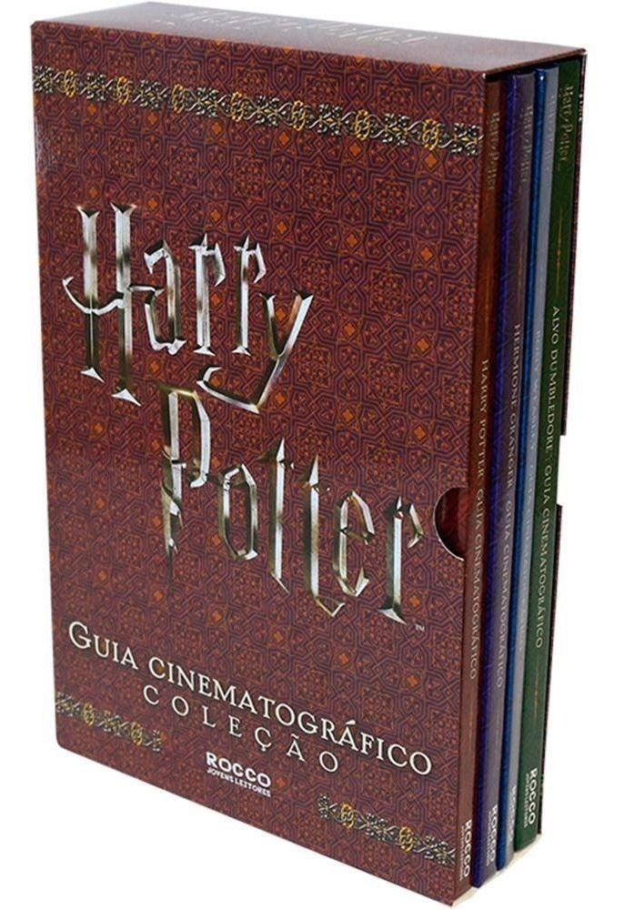 Box Harry Potter Guia Cinematográfico Capa Dura (4 Livros