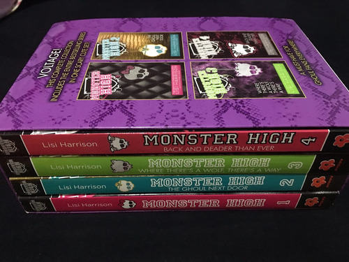 box livro inglês monster high the scary cute envio grátis