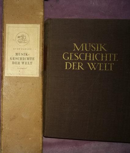 box + livro musikgeschichte der welt  kurt pahlen
