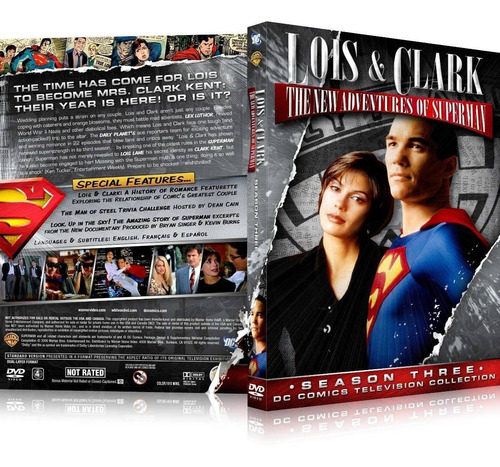 box lois & clark as novas aventuras do superman 3ª temporada