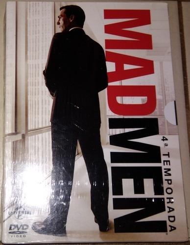 Box Mad Men - 4ª Temporada C/luva (4 Discos) - Lacrado