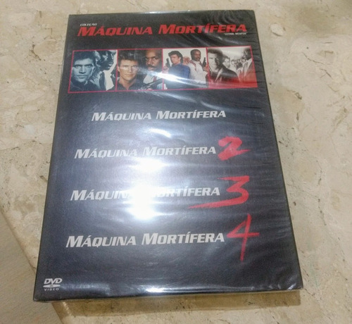 box- maquina mortífera- lacrado- 4 filmes- em 2 dvds !!!