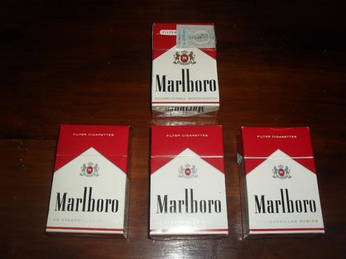 box marlboro comunes, de 20 cigarrillos rubios - vacios