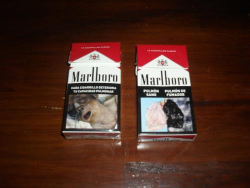 box marlboro, de 10 cigarrillos rubios - vacio !!