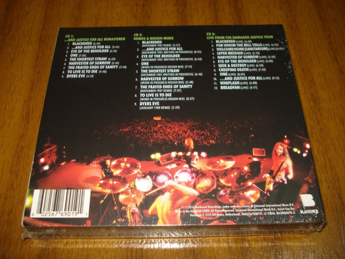 box metallica / and justice for all (nuevo y sellado) 3 cd