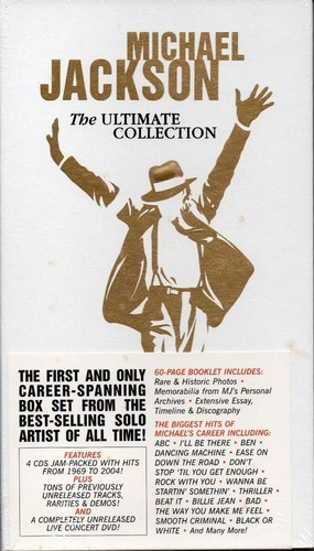 box - michael jackson the ultimate collection 4 cds + 1 dvd