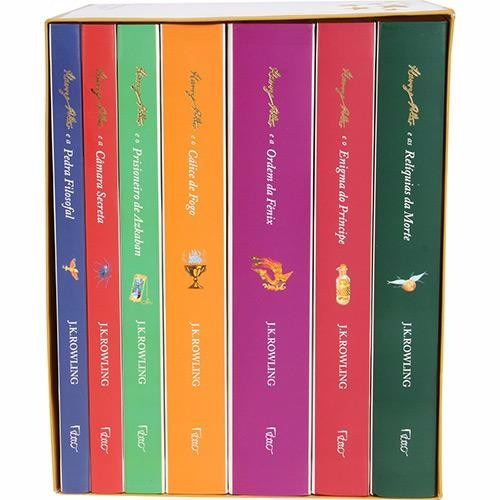 box mundo mágico de harry potter - capa branca (7 livros) #