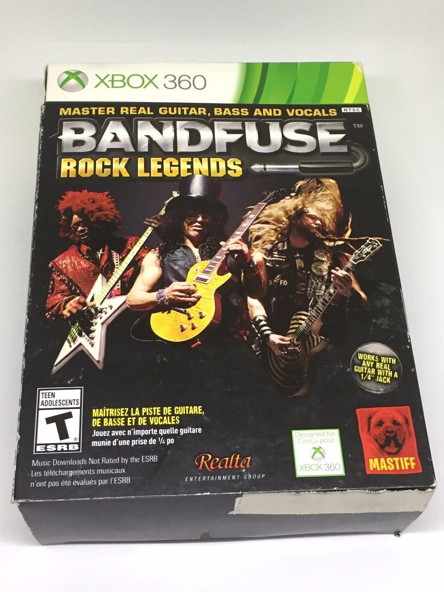 Box Novo Bandfuse Rock Legends Pra Xbox 360 Ntsc Jogo + Cabo Bandfuse Xbox on